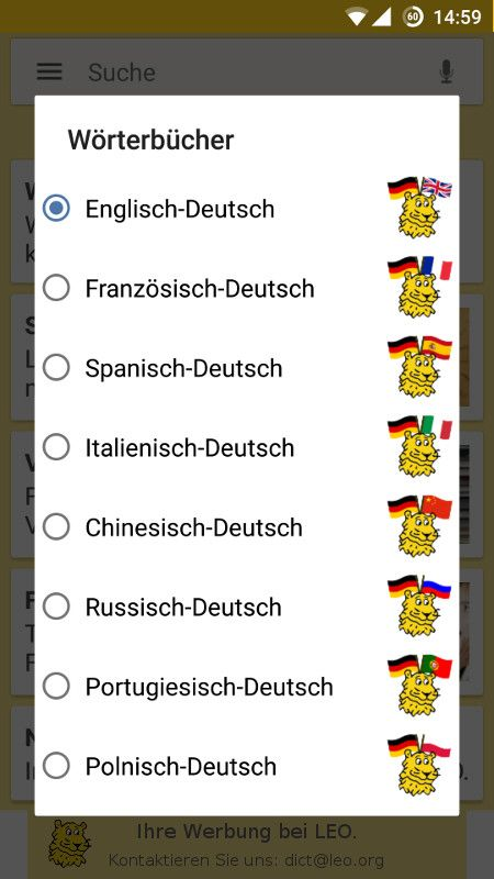 English German Dictionary Leoorg Android App Looking Up Words