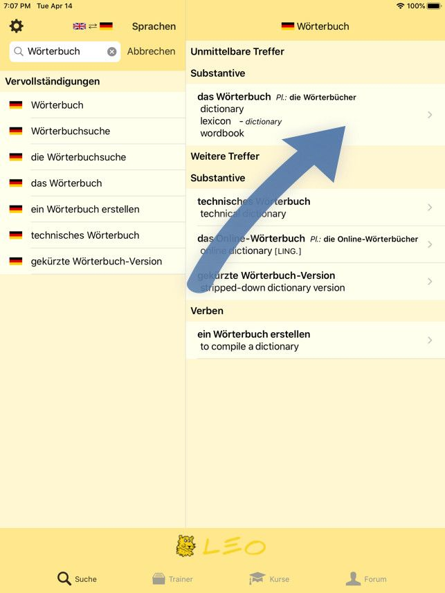 Weitere Informationen (iPhone)